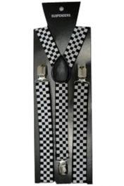 Police Checkered Printed Braces (2.5 cm)