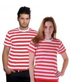 Unisex Red & White Stripe T-Shirt